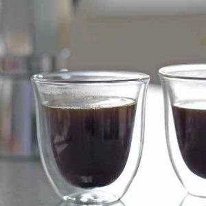 La cafeterie-kávés üvegpohár